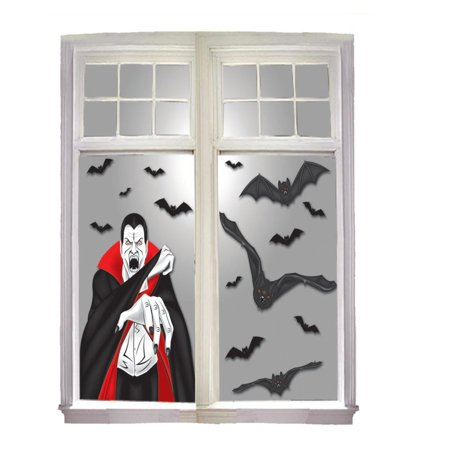 Vampire Window Banner Panel Banner Poster 30 X 38 Halloween Decoration (Amazon 30 Off Halloween)