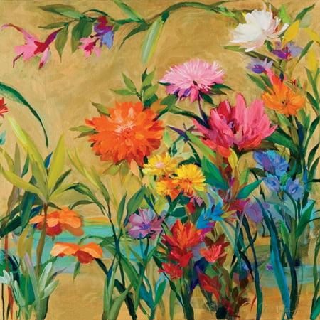 Marthas Garden - Spring Flowers Garden Poster Print by Martha Collins