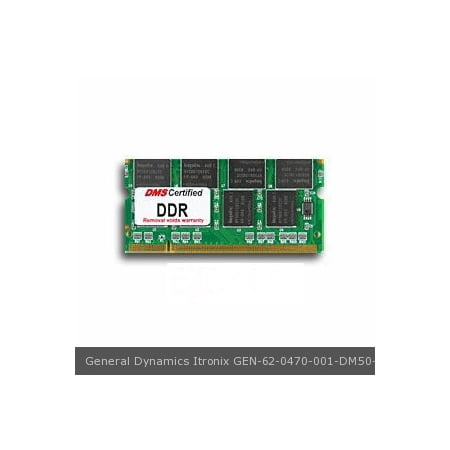 General Dynamics Itronix 62 0470 001 Equivalent 512Mb Dms Certified Memory 200 Pin  Ddr Pc2700 333Mhz 64X64 Cl 2 5  Sodimm   Dms