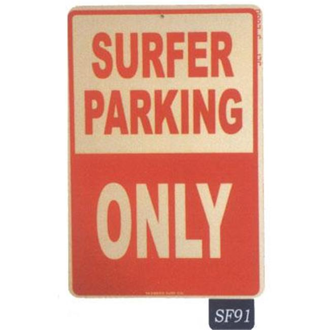 Seaweed Surf Co SF91 12X18 Aluminum Sign Surfer Parking Only