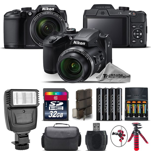 Nikon COOLPIX B500 Camera 40x Optical Zoom + Flash + Case - 32GB Kit Bundle