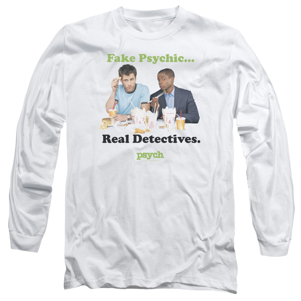 Psych Take Out Mens Long Sleeve Shirt