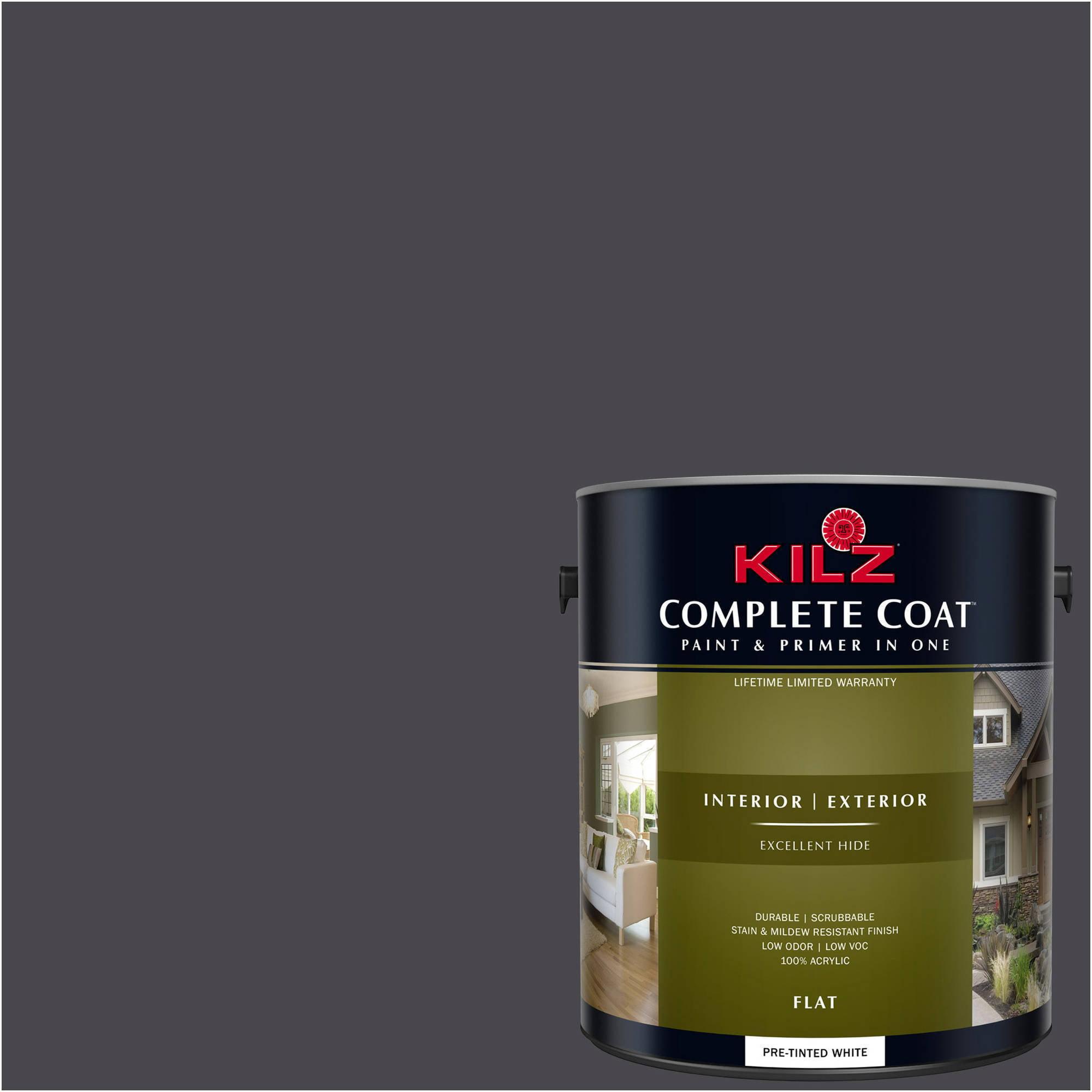 KILZ COMPLETE COAT Interior/Exterior Paint & Primer in One #RM240 Grate Black