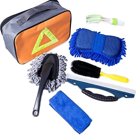 7PCS Car Wash Tool Car Cleaning Products Car Wash Cleaning Kit Car Cleaning Supplies with Gift Bag - Christmas Car Kit