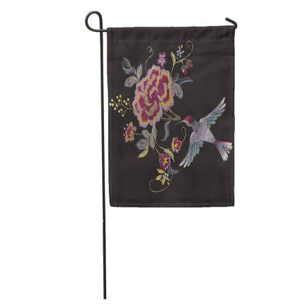Nudecor Gold Oriental Floral Pattern Bird And Roses Ethnic Embroidered Flowers Garden Flag Decorative Flag House Banner 28x40 Inch Walmart Canada