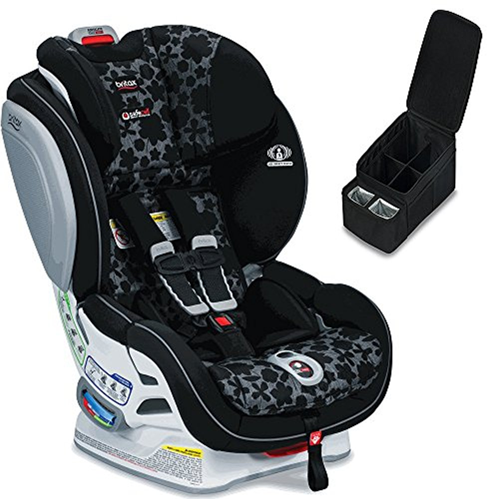 Britax Advocate ClickTight Convertible Car Seat, Kate & Car Seat Caddy Bundle