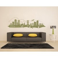 Denver City Skyline Wall Decal - cityscape wall decal, sticker, mural vinyl art home decor - 4230 - White, 31in x 11in