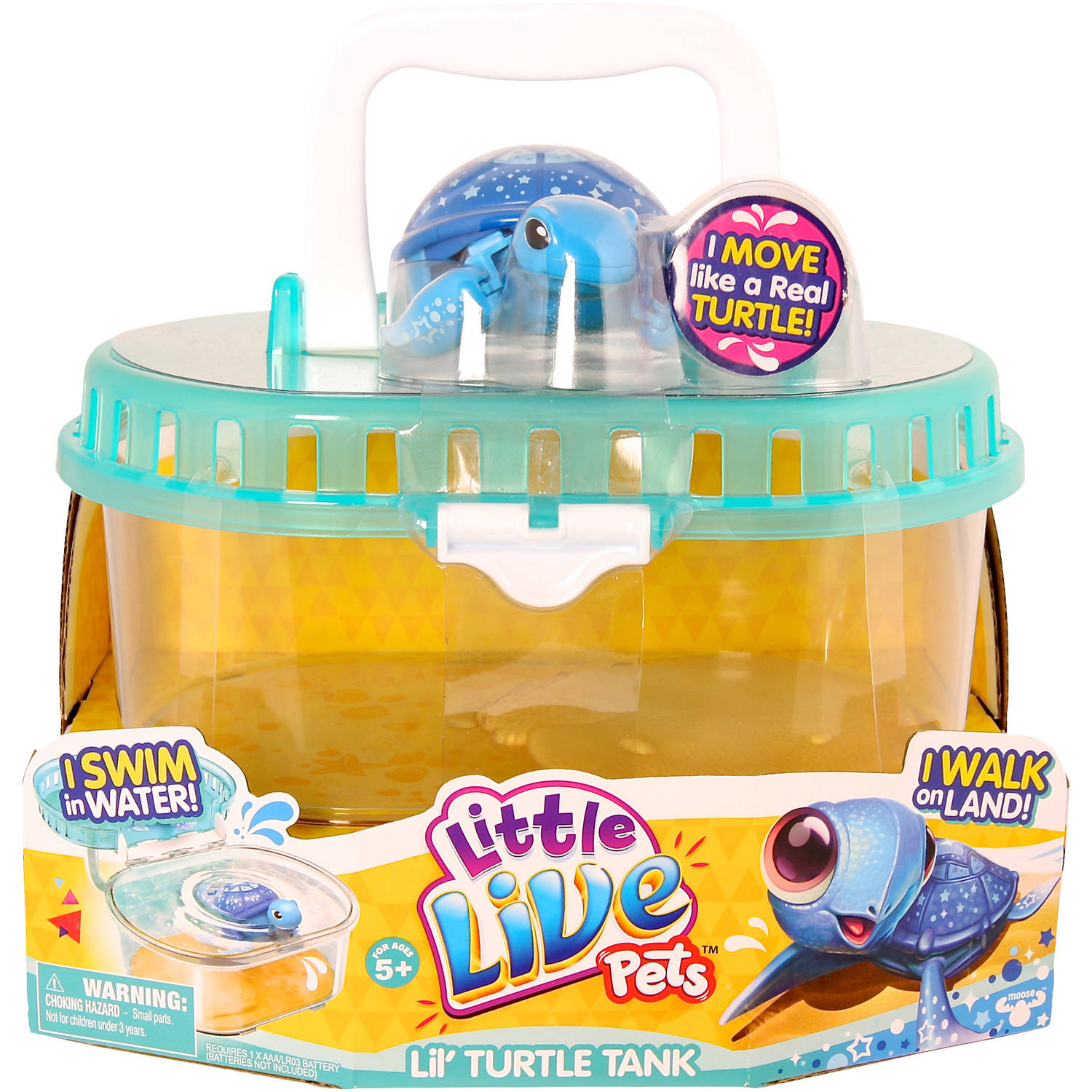 Moose Toys Little Live Pets Season 1 Lil' Turtle Tank
