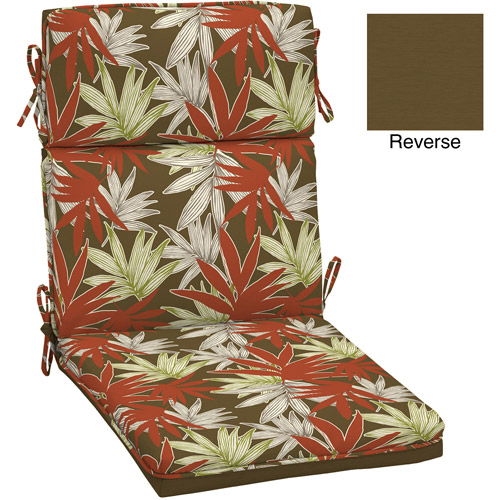 Better Homes and Gardens Dining Chair Outdoor Cushion, Leaf Print