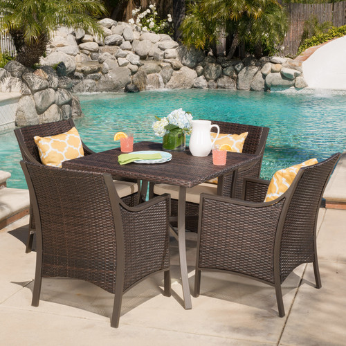 Brayden Studio Liggins 5 Piece Dining Set with Cushion