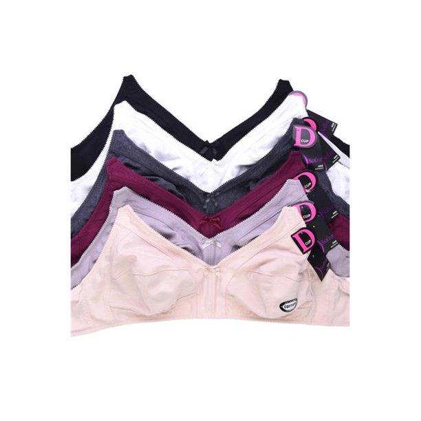 42c bra walmart : Sofra BR1541N-42C Women Mama Intimate Sets Wire Free Unpadded Bra, Multi Color - 42C - Pack of 6
