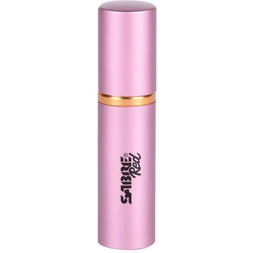SABRE Red Lipstick Pepper Spray, Police Strength, Discreet, Pink, 10 Bursts & 10' (3m) Range by Sabre