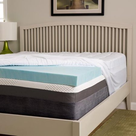 Slumber Perfect 4 Inch Gel Memory Foam And 1 5 Inch Fiber