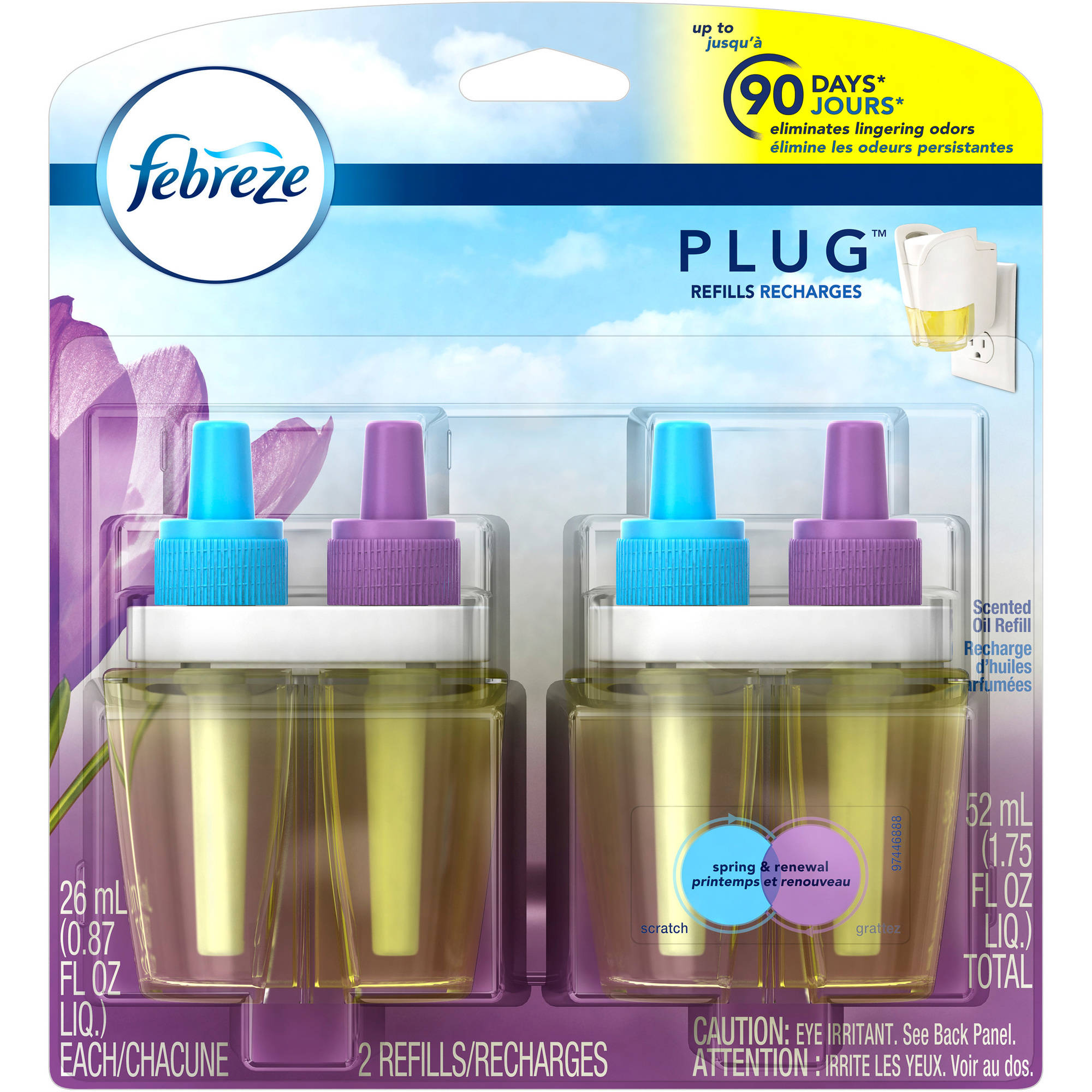 Febreze NOTICEables Spring & Renewal Scented Oil Air Freshener Refills, 0.87 fl oz, 2 count