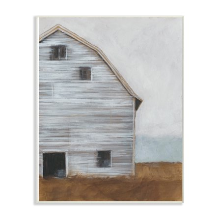 The Stupell Home Decor Collection Worn Old Barn Farm Painted Oversized Wall Plaque Art, 12.5 x 0.5 x 18.5