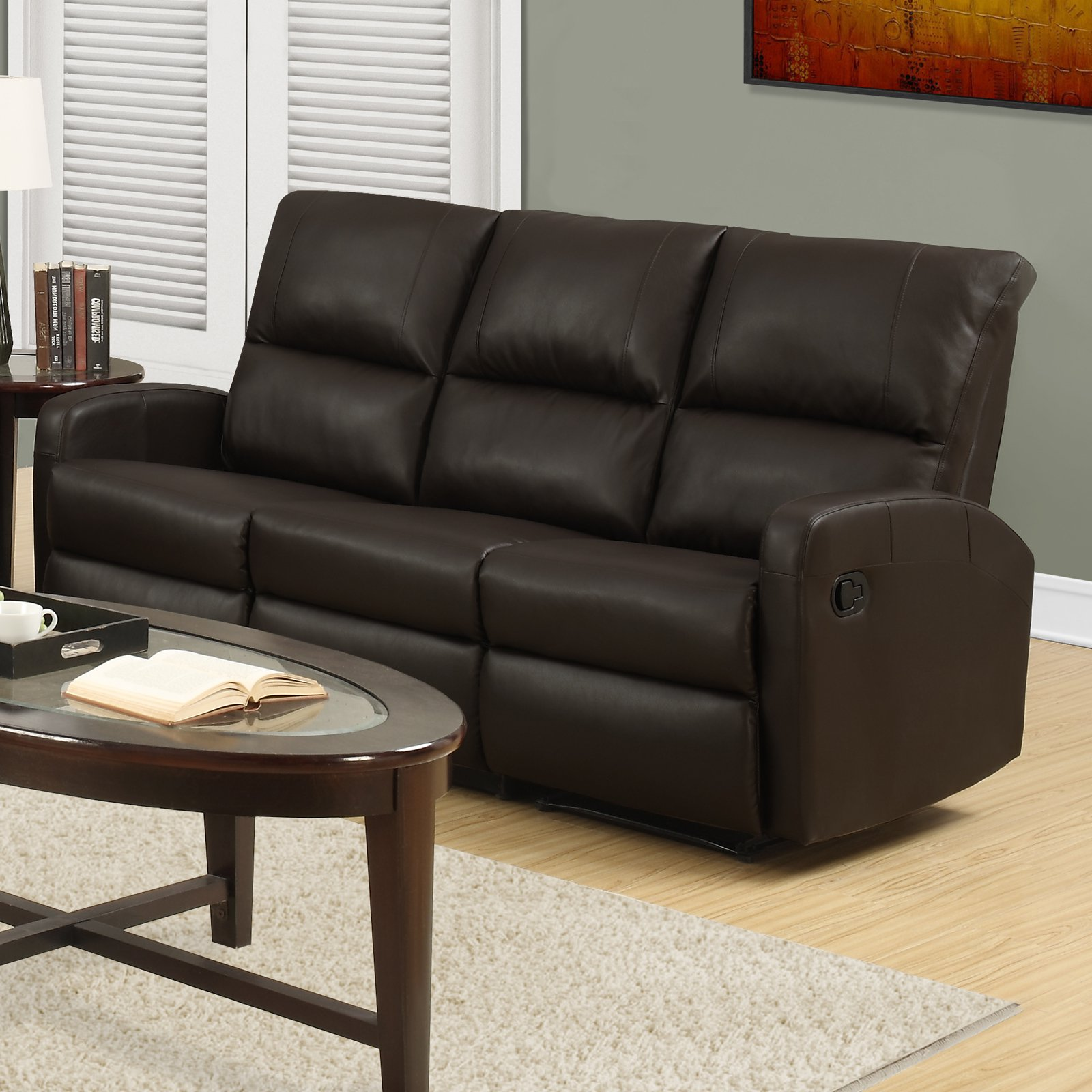 Monarch Specialties Hayward Reclining Sofa