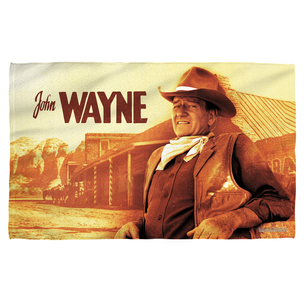 John Wayne Old West Bath Towel White 27X52