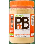 PBfit Organic All-Natural Peanut Butter Powder, 15 oz