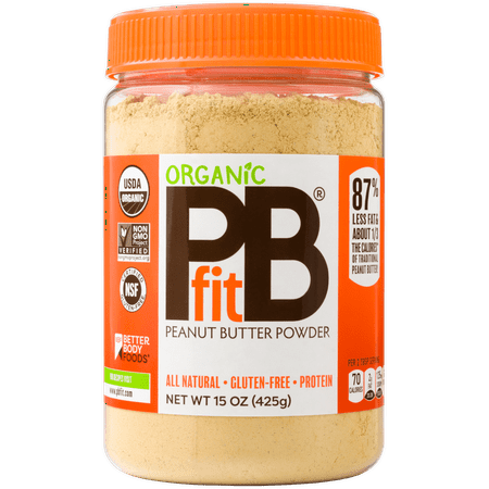 PBfit Organic All-Natural Peanut Butter Powder, 15 oz