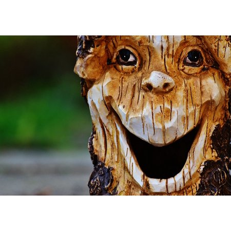 LAMINATED POSTER Log Face Fash Forest Spirit Tree Tree Face Poster Print 24 x 36