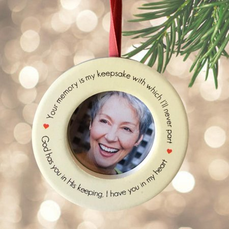 Memorial Christmas Ornament – In Loving Memory Keepsake Ornament with Easel Back ()