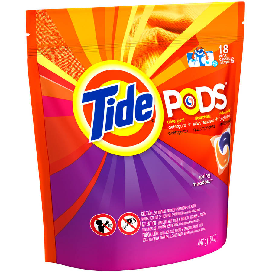 Tide PODS Spring Meadow Scent Laundry Detergent, 18 Loads, 18 count