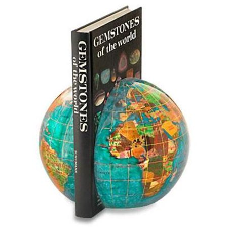 Alexander Kalifano Gemstone Globe Book Ends (Set of 2)