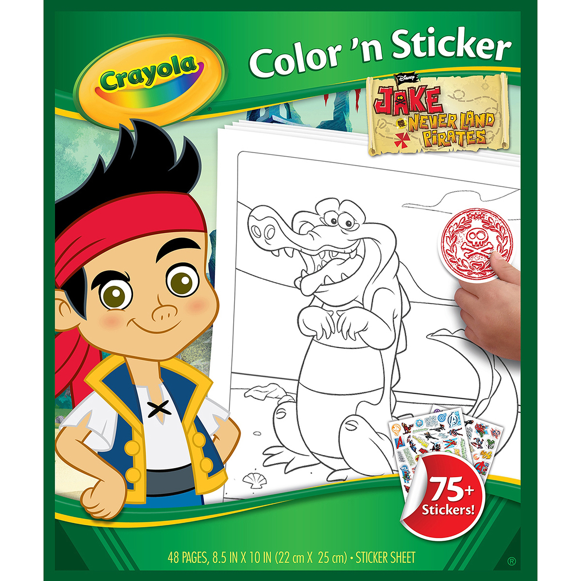 Color 'N Sticker Book, Jake And The Never Land Pirates