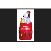 gemmy industries airblown snoopy on house with banner and lights christmas decoration multicolore - Snoopy Christmas Lights