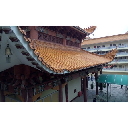 Canvas Print China Wind Classical Eaves Temple Building Stretched Canvas 10 x 14