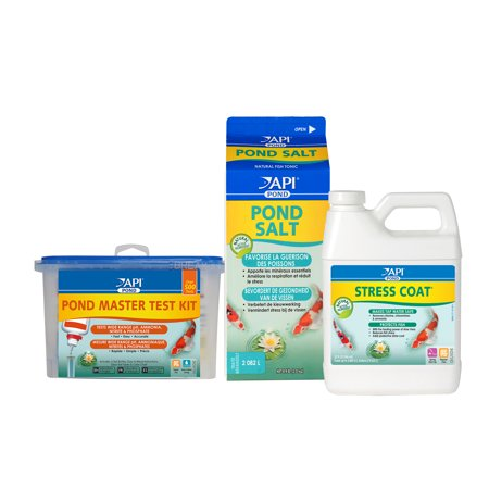 - API Pond Starter Bundle Including API Pond Stress Coat Pond Water Conditioner, API Pond Salt, API Pond Master Test Kit