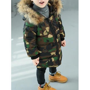 Toddler Boys Warm Camouflage Printed Jacket ()