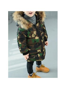Toddler Boys Warm Camouflage Printed Jacket