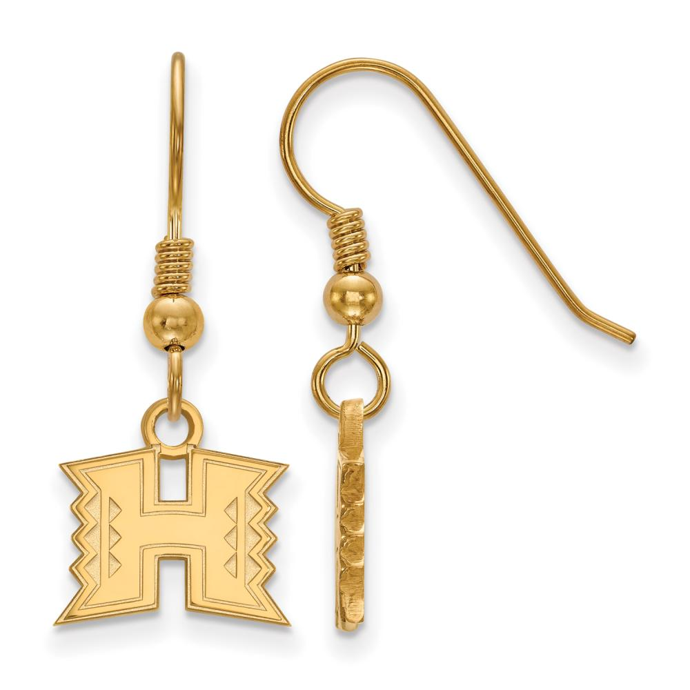 Hawaii Extra Small (3/8 Inch) Dangle Earrings (Gold Plated)