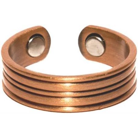 Copper Stripes - Magnetic Therapy Ring