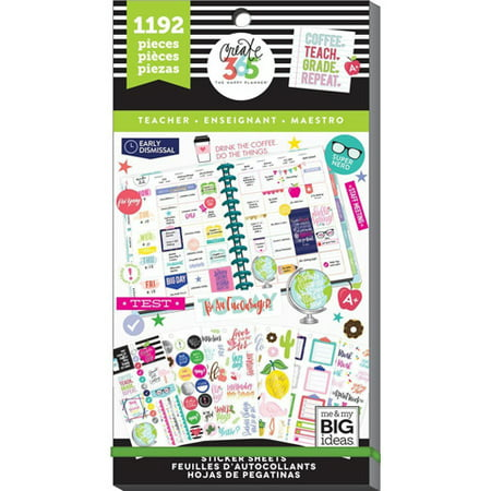 Gifted Line Stickers - The Happy Planner Teacher Stickers: Sweet Lfie: 1192 Pack