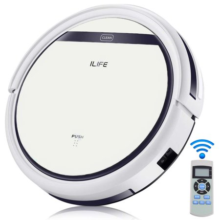 ILIFE V5 Robotic Vacuum Cleaner, Robot Vacuum and Mop with self-chorging, Automatic Remote Control, Powerful Suction, Best Robot Vacuum for Pet Hair, Hard Floor and Low Pile (Best Vacuum For Pet Dander)