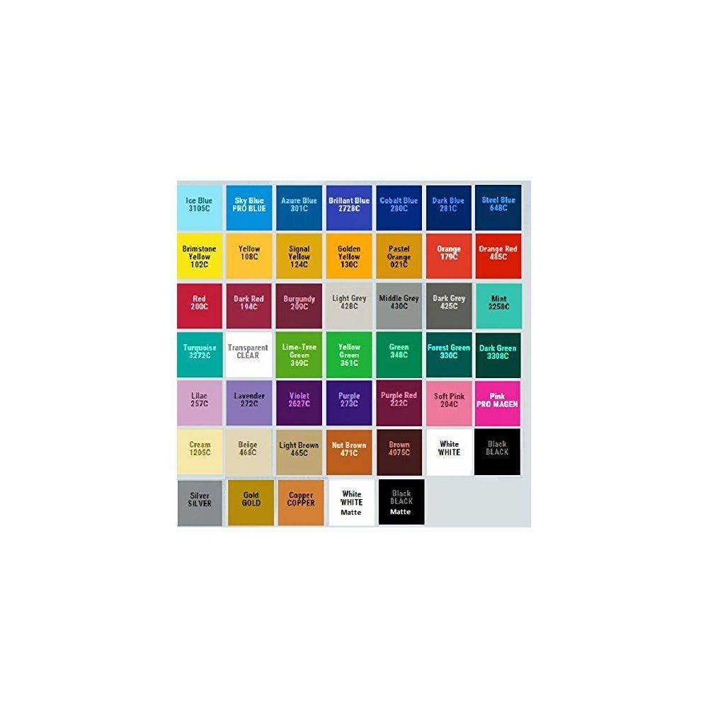 oracal 651 vinyl 12 rolls choose from 47 colors (47 rolls)