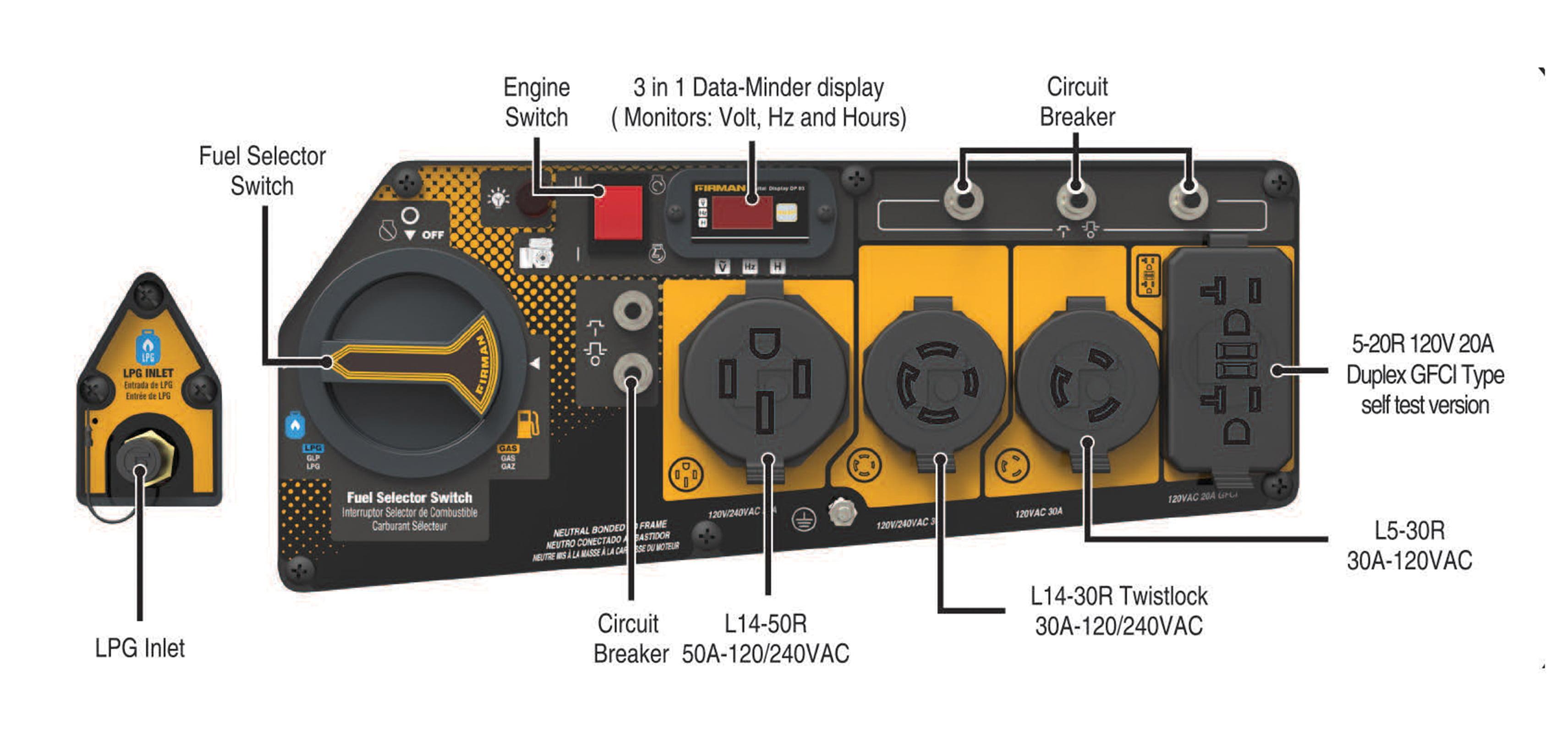 Firman H08051 10000 8000 Watt Dual Fuel Electric Start Generator Pro Comp Pc Wiring Diagram Carb