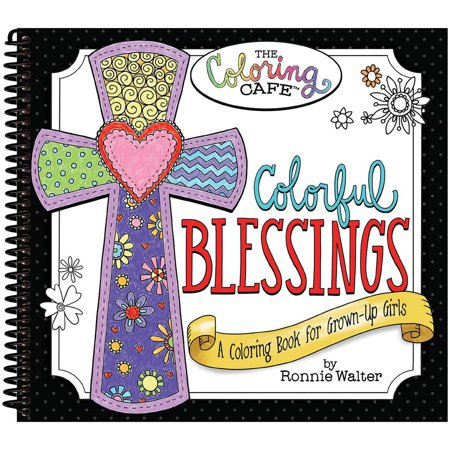 The Coloring Cafe Book Colorful Blessings