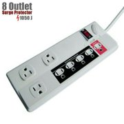 8-Outlet Power Strip Energy Control Surge Protector 1050J 125V 15A with 6FT Cord