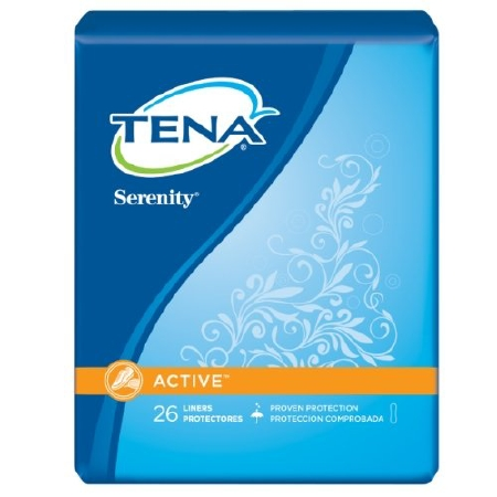 Bladder Control Pad Tena® Serenity® Active™ 8 Inch Length Light Absorbency Polymer Female Disposable
