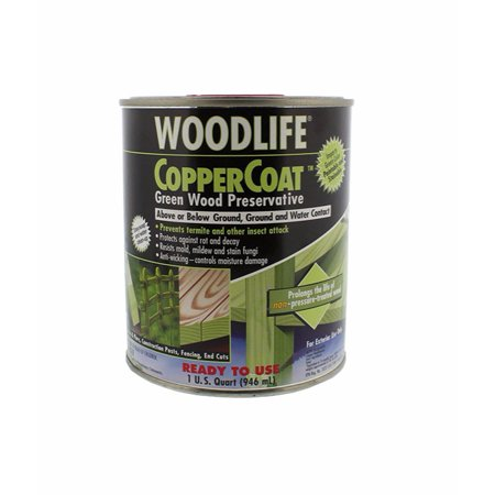 Rust-Oleum 1904 Wolman Woodlife Coppercoat Green Wood Preservative, 0.23
