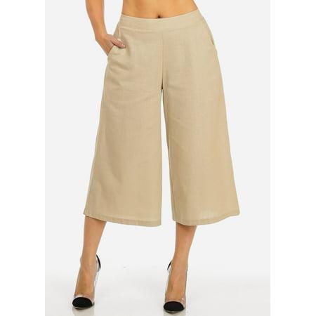 Unique  Pants  BCBGMAXAZRIA Women39s Nalan Khaki Wide Leg Pant Khaki Large