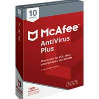 McAfee Antivirus Plus 10-Device Software (PC/Mac/iOS/Android)