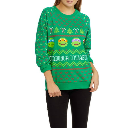 teenage mutant ninja turtles juniors ugly christmas pullover