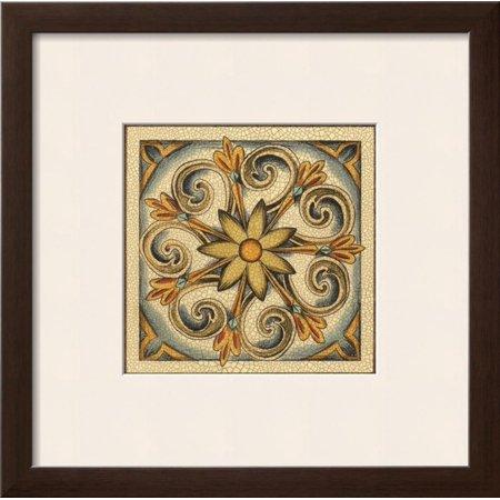 Crackled Cloisonne Tile II Framed Art Print Wall Art  By Chariklia Zarris - 19x19