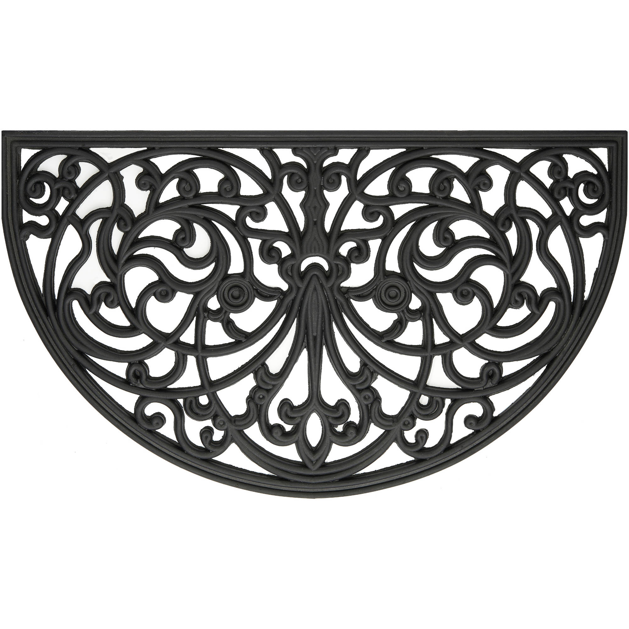 "Wrought Iron Rubber Doormat Ironworks, 18"" x 30"""