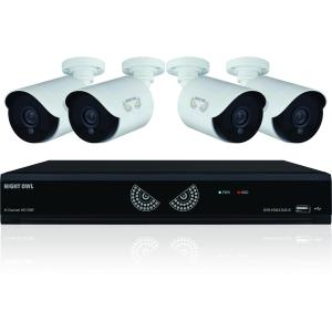 Night Owl Lite B-10HLDA-841-1080 Video Surveillance System - Digital Video Recorder, Camera - 1 TB Hard Drive - 30 Fps - 1080 - Composite Video In - 4 Audio In - 1 Audio Out - 1 VGA Out - HDMI 4