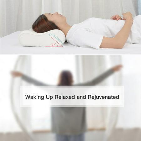 Sleep Contoured Memory Foam Pillow Neck Pillow Standard Size 60 x 40 x 15/13cm - image 2 de 8